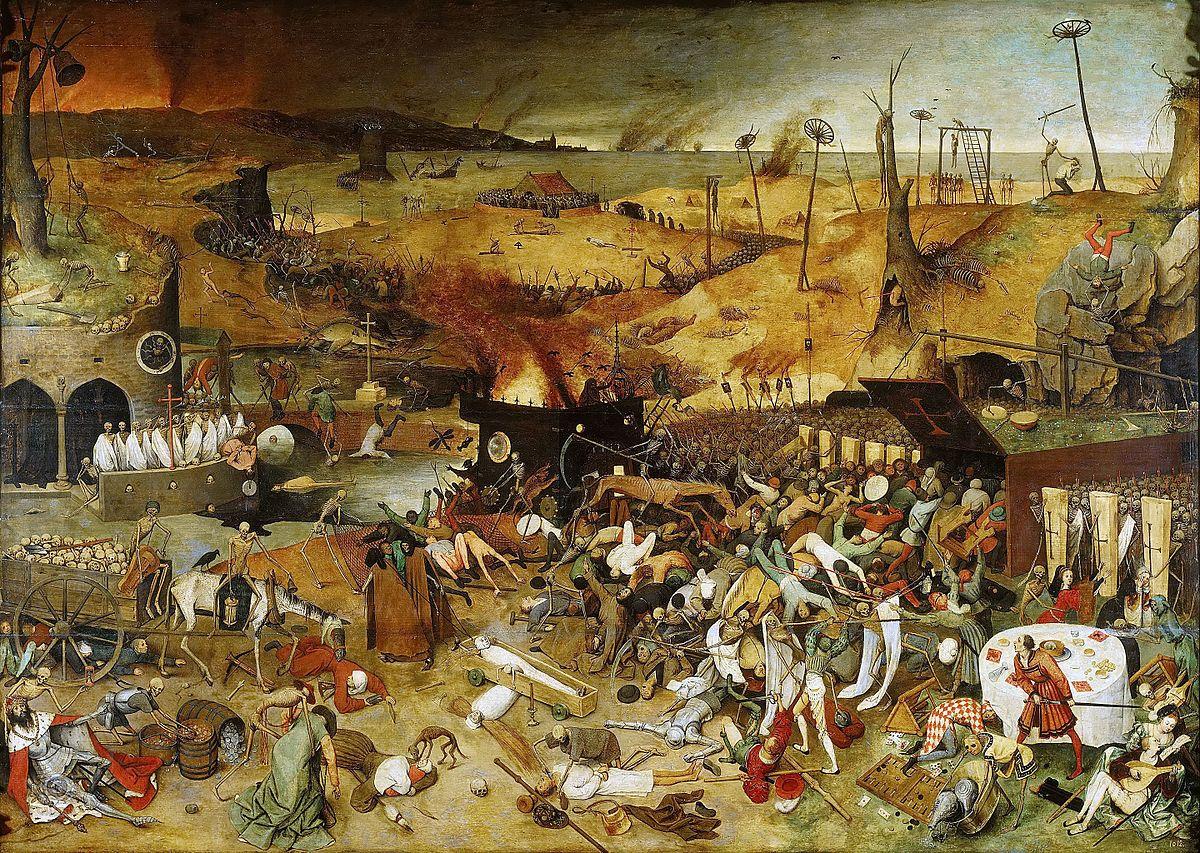 P. Bruegel - 'Il Trionfo della Morte' Pensate alla patogenesi di un tumore; cioè una massa abnormale di tessuto che cresce in eccesso ed in modo scoordinato rispetto ai tessuti normali, e che persiste in questo stato anche dopo la cessazione degli stimoli che hanno indotto il processo di formazione. Una crescita incontrollata, scriteriata che causerà, molto probabilmente, la morte dell'organismo, ormai malato.